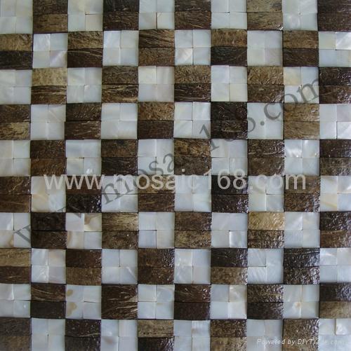 天然贝母椰壳马赛克装饰板 1