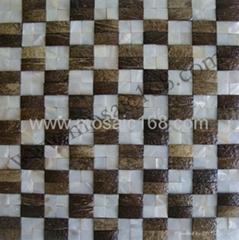 天然貝母椰殼馬賽克裝飾板