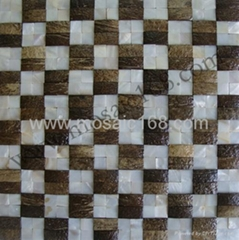 coconut shell mosaic square design