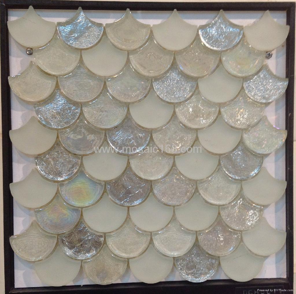 白色扇形玻璃马赛克 1
