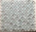白色扇形玻璃马赛克 2