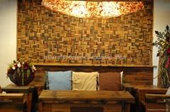 老船木牆面裝飾馬賽克