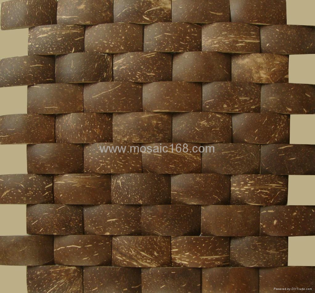 Dark Brown Color Coconut Shell Mosaic Jh K31 30 60