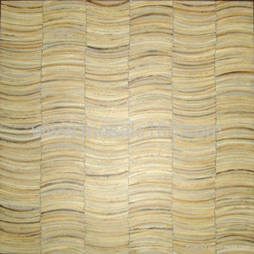 white color Coconut wood mosaic wall panel - JH-K36-02 - Gimare ...