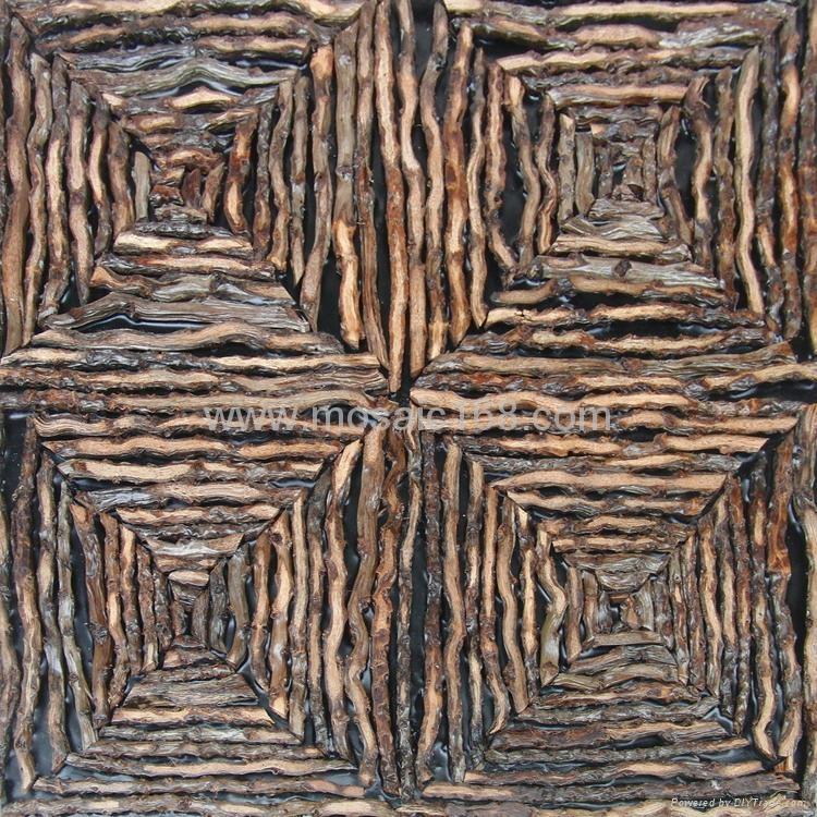 椰子花藤条墙板 1