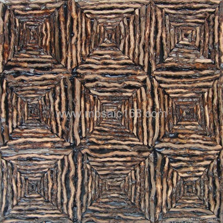 椰子花藤条墙板 2