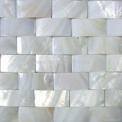 white color Shell mosaic bathroom used