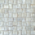 pure white Shell mosaic square design