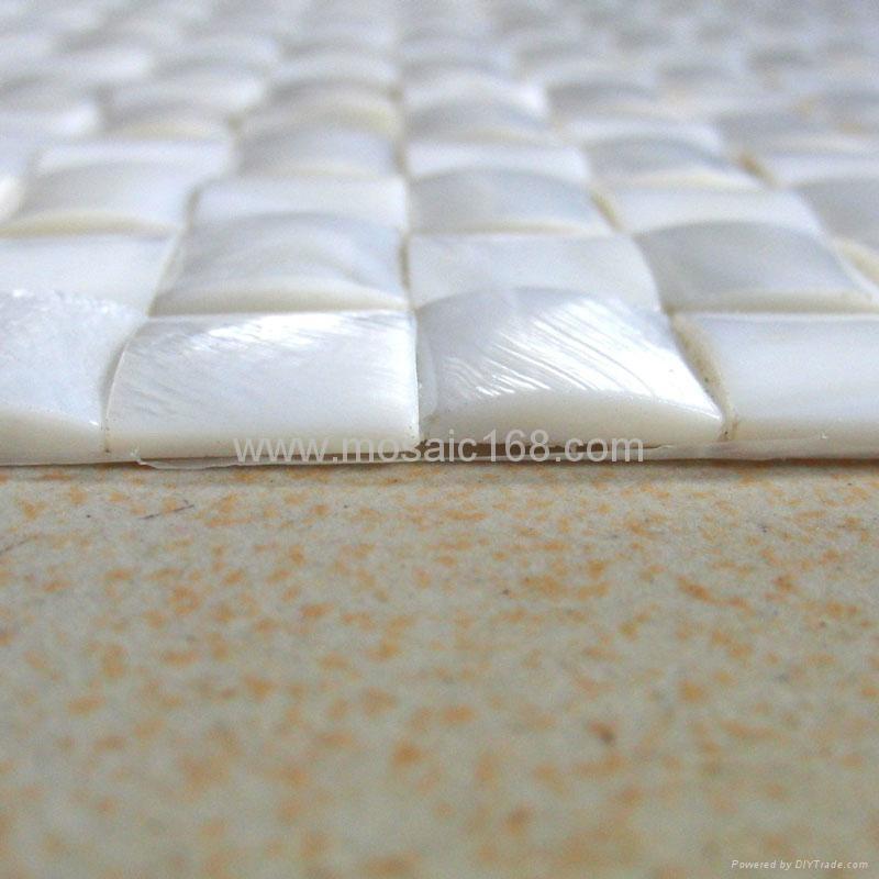 纯白淡水贝马赛克 3
