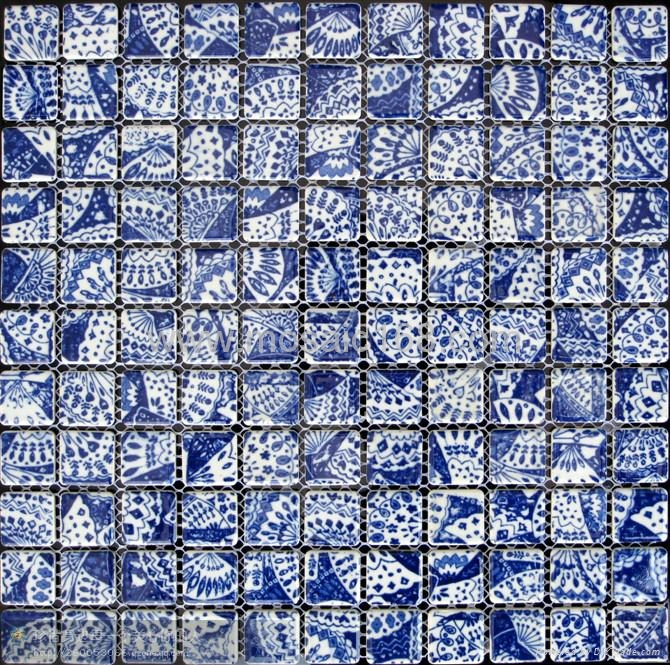 Blue White Color Ceramic Mosaic