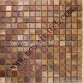 bronze mosaic metal mosaic