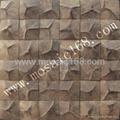 深棕色椰壳马赛克装饰板 3