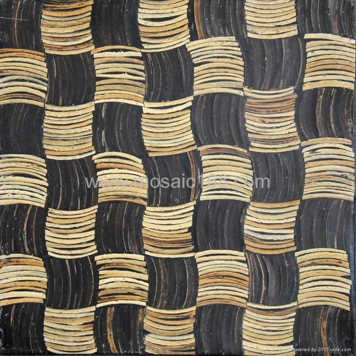 白色椰壳马赛克装饰板 5