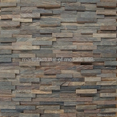 irregular wood mosaic for interior wall