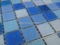 蓝色渐变玻璃马赛克拼花 2