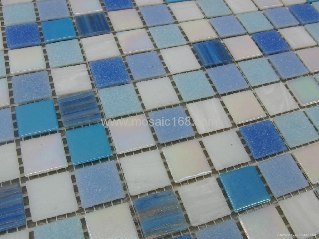 蓝色渐变玻璃马赛克拼花 3