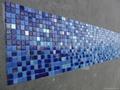 蓝色渐变玻璃马赛克拼花 5