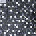 black color stone & glass mosaic