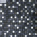 black color stone & glass mosaic