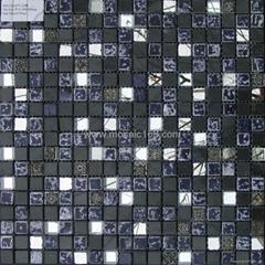 黑色石材马赛克装饰