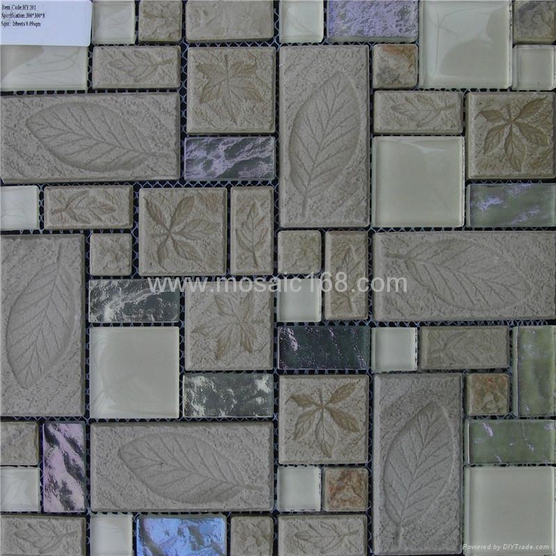 石材玻璃墙面马赛克 1