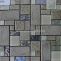 irregular glass mosaic stone mosaic