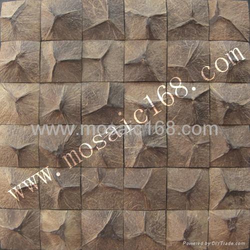 椰壳马赛克装饰板 3
