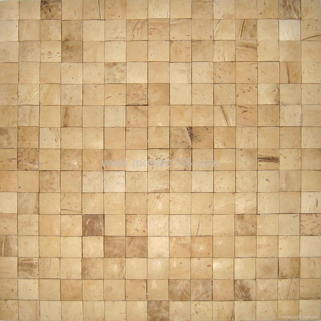手工拼贴椰壳马赛克室内背景墙用 1