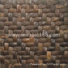 手工拼贴椰壳马赛克室内背景墙用 5