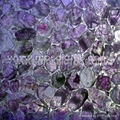 big size amethyst panel , wall mosaic