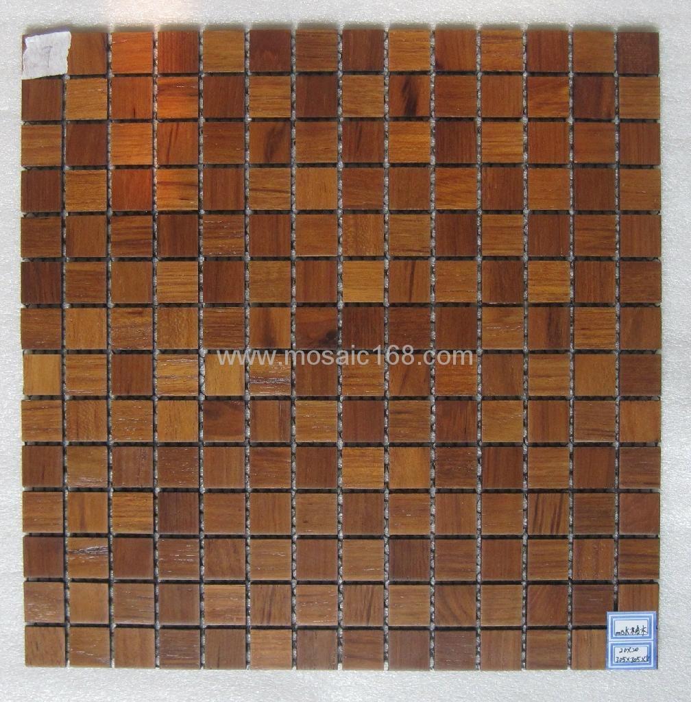 oak wood mosaic tile 2