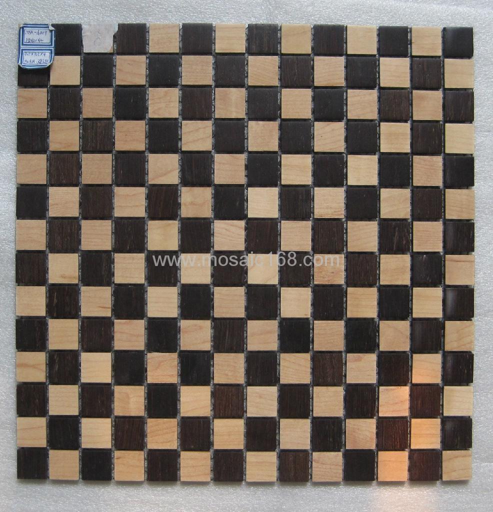 oak wood mosaic tile 3