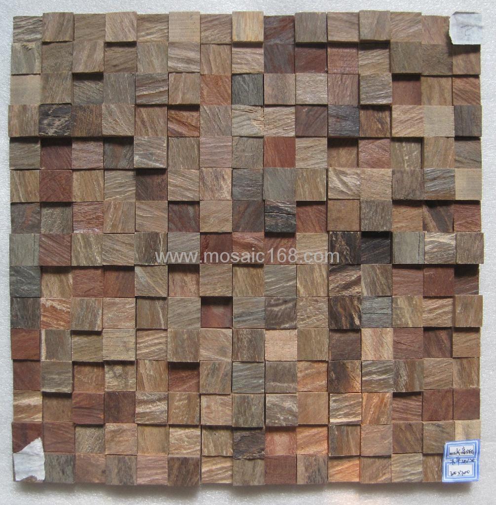 oak wood mosaic tile 4