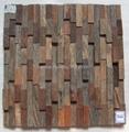 oak wood mosaic tile 5