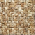 Coconut mosaic wall tile,wooden panel
