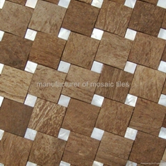 特制椰壳马赛克装饰板墙面