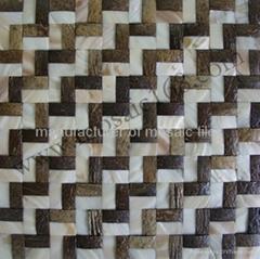 混拼椰壳马赛克装饰板