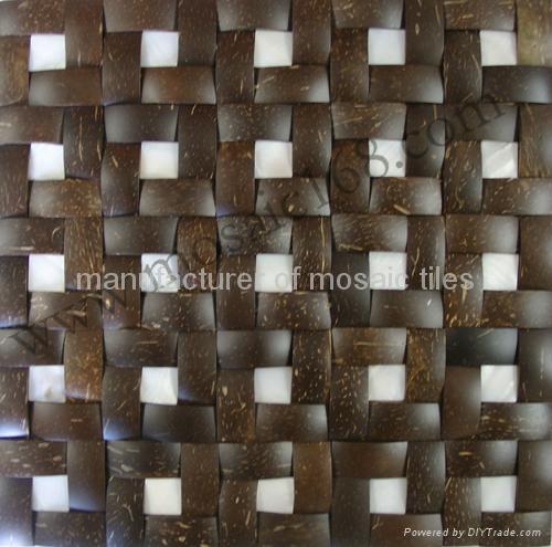 混拼椰壳马赛克装饰板 2
