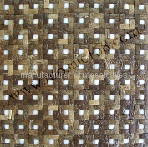 混拼椰壳马赛克装饰板 5