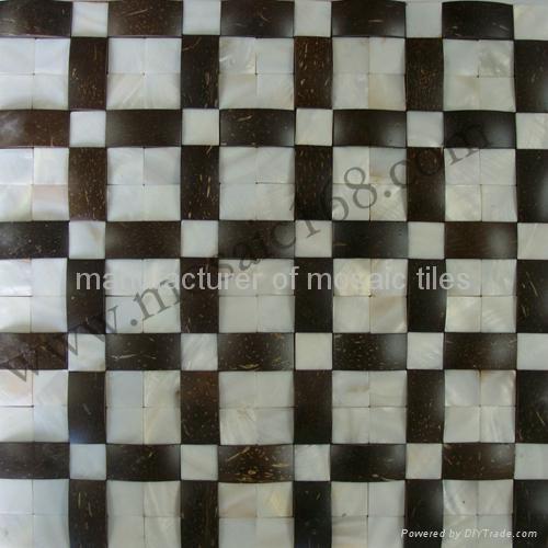 天然椰壳贝壳装饰板墙面 2