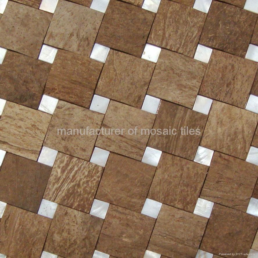 天然椰壳贝壳装饰板墙面 1