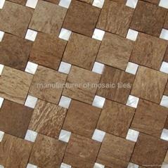 天然椰壳贝壳装饰板墙面