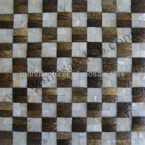 天然椰壳贝壳装饰板墙面 4
