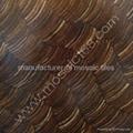 Coconutshell wood mosaic panel