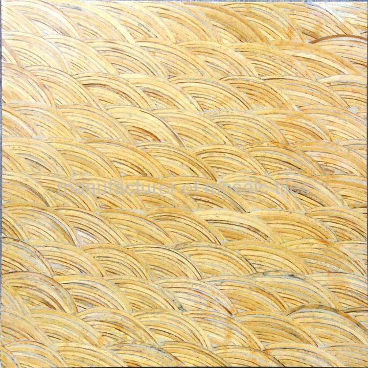 白色椰壳马赛克家具板 1