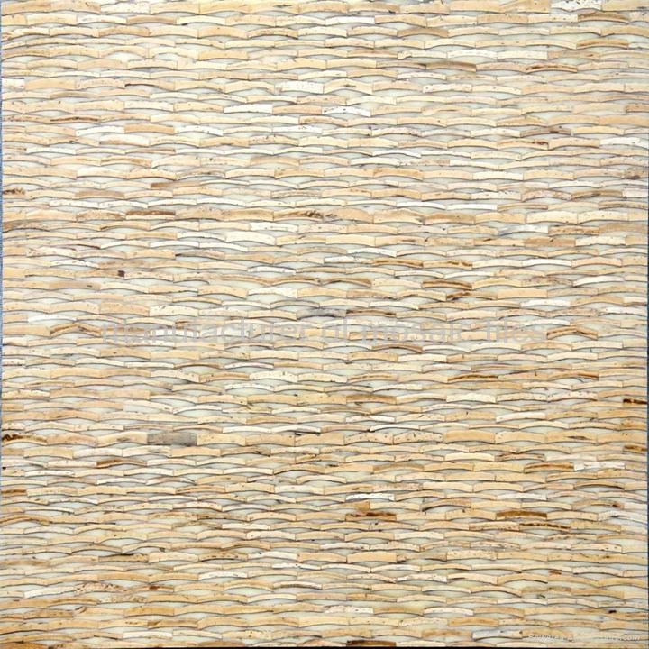 白色椰壳马赛克家具板 4