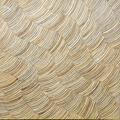Coconut mosaic wood panel