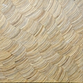 Coconut mosaic wood panel