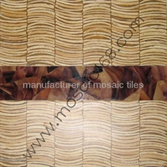 mop shell inlay Coconut mosaic wood panel