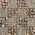 handmade coconut wood wall panels